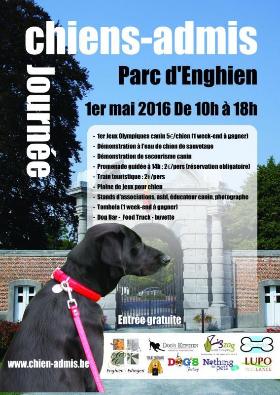 Affiche journee chiens admis 2016