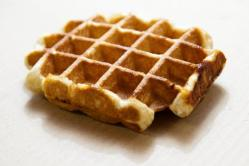 Waffle close up on table